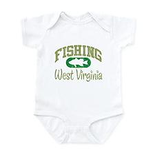 FISHING WEST VIRGINIA Onesie