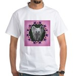 New Chinese Crested Design White T-Shirt