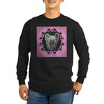 New Chinese Crested Design Long Sleeve Dark T-Shir