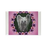 New Chinese Crested Design Rectangle Magnet