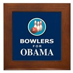 BOWLERS FOR OBAMA Framed Tile