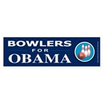 BOWLERS FOR OBAMA Bumper Sticker