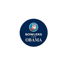 BOWLERS FOR OBAMA Mini Button (10 pack)