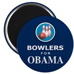 BOWLERS FOR OBAMA Magnet