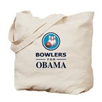 BOWLERS FOR OBAMA Tote Bag