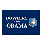 BOWLERS FOR OBAMA Postcards (Package of 8)