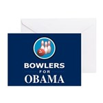 BOWLERS FOR OBAMA Greeting Cards (Pk of 10)