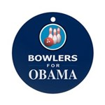 BOWLERS FOR OBAMA Ornament (Round)