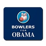 BOWLERS FOR OBAMA Mousepad