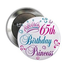 "65th Birthday Princess 2.25"" Button"