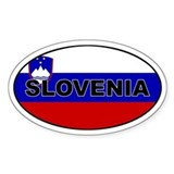 Slovenia Flag Oval Bumper Stickers