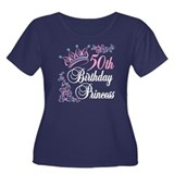 50th Birthday Princess Women's Plus Size Scoop Nec