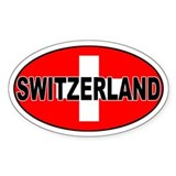 Swiss / Switzerland (CH) Oval  Aufkleber