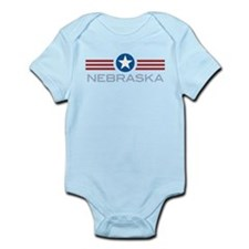 Star Stripes Nebraska Infant Bodysuit