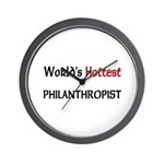 World's Hottest Philanthropist Wall Clock