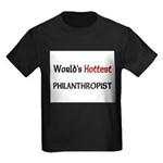 World's Hottest Philanthropist Kids Dark T-Shirt
