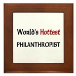World's Hottest Philanthropist Framed Tile