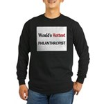 World's Hottest Philanthropist Long Sleeve Dark T-