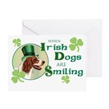 St. Patrick Irish Red and White Greeting Card