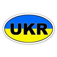 Ukraine (UKR) Flag Oval Decal