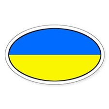 Ukraine Flag Oval Decal