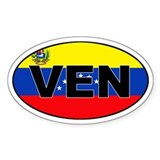 Venezuela (VEN) Flag Oval Decal