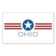Star Stripes Ohio Rectangle Decal