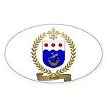 DAVID Family Crest Oval Sticker
