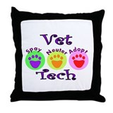 Cute Vet tech Throw Pillow