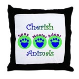 Funny Vet tech Throw Pillow