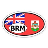 Bermuda flag banner Oval Decal