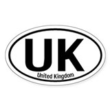 United Kingdom International Oval Decal