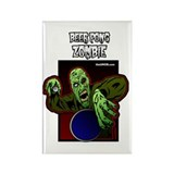 Beer Pong Zombie Rectangle Magnet