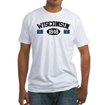 Wisconsin 1848 Fitted T-Shirt