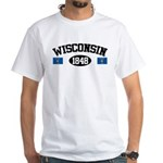 Wisconsin 1848 White T-Shirt