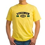 Wisconsin 1848 Yellow T-Shirt