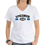 Wisconsin 1848 Women's V-Neck T-Shirt