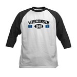 Wisconsin 1848 Kids Baseball Jersey