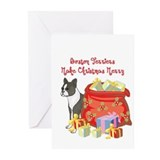 Boston terrier cards Greeting Cards (20 Pack)