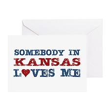 Somebody in Kansas Loves Me Greeting Card