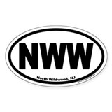 North Wildwood, NJ NWW Euro Oval Decal