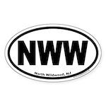 North Wildwood, NJ NWW Euro Oval Sticker