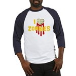 I heart Zombies Baseball Jersey