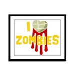 I heart Zombies Framed Panel Print