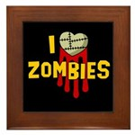 I heart Zombies Framed Tile