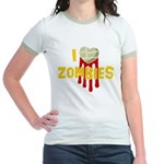 I heart Zombies Jr. Ringer T-Shirt