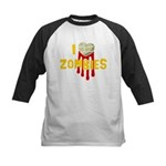 I heart Zombies Kids Baseball Jersey