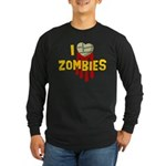 I heart Zombies Long Sleeve Dark T-Shirt