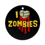 I heart Zombies Ornament (Round)