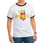 I heart Zombies Ringer T
